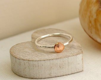 Sterling Silver & Copper Stacking Ring