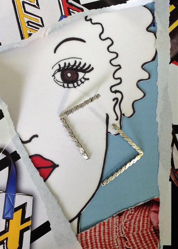 minimalist earrings | geometric earrings | large earrings | handmade jewelry