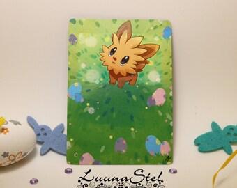 Pokemon Ponchio painted card