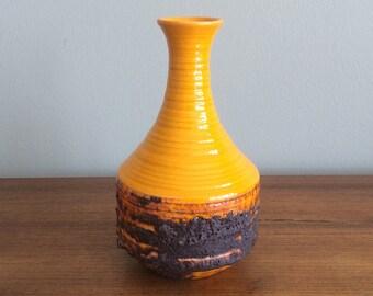 Mid Century Fat Lava Studio Art Pottery Vase
