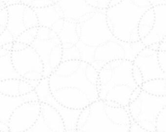 Modern Background Paper Silver White XOXO Zen Chic Moda Fabric, 1584 11, Sold By 1/2 Yard