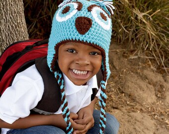 Crochet Owl Hat - Crochet Baby Hat - Crochet Baby Cap - Baby Bonnet - Owl Cap - Woodland Hat - Baby Photography Prop - Woodland Photo Props
