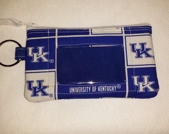 University of Kentucky Zip ID pouch