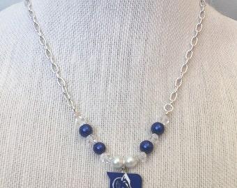 ON SALE DUKE Blue Devils Beaded PENDant College Sports Teacher Co-Worker GRADuation BIRTHday Gift Necklace By DYEnamite