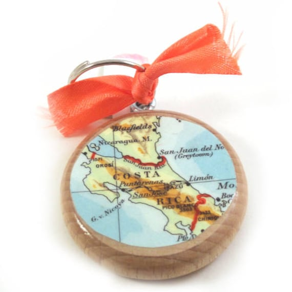 World map keychain - Latin America variations