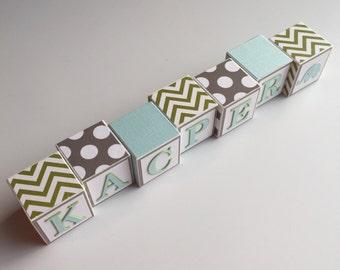 Baby Name Blocks - Name Blocks - Baby - Baby Girl - Baby Gift - Newborn - Baby Shower - Nursery - Blocks - Newborn Photography - Photo Prop