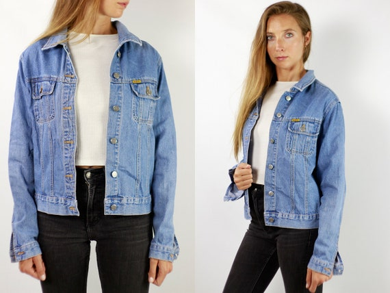 Vintage Denim Jacket Vintage Jean Jacket Blue Denim Jacket Cropped Denim Jacket Cropped Jean Jacket Grunge Denim Jacket Small Jean JJ246