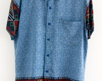 O'Carioca Tetrix Short Sleeve Button Up Shirt with a relaxed fit.