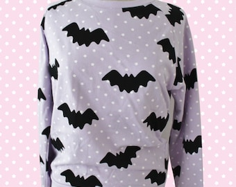 Hello Cavities Twinkle Twinkle Bat Sweatshirt in LAVENDER