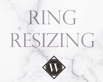 Ring Resizing for rings purchased from WoodenGold