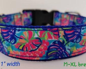 Exotic garden dog collar