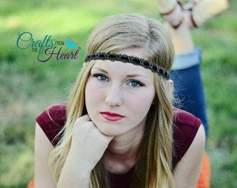 Brown Boho Headband - Boho Headband - Bohemian Headband - Gypsy Headband - Forehead Headband - Hippie Headband - Brown Headband - Headbands