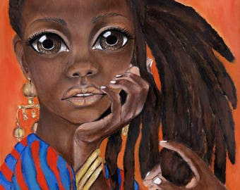 "When You Commin to Get Me?"" Giclee Limited Edition African Art"