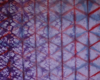 hand dyed Shibori fabric - 125