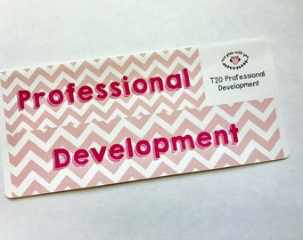 T20    Chevron Professional Development Full Day Stickers
