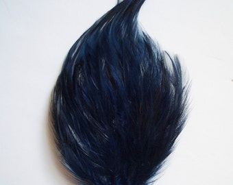 Navy Blue Hackle Feather Pad