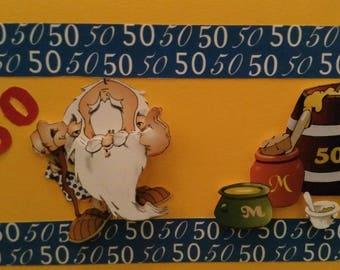 50 man birthday 3D card