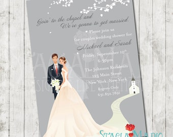 Going to the Chapel Bridal Shower Invite