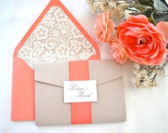 Coral wedding color   Etsy