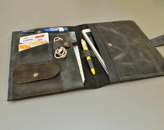 Ipad air case Leather moleskine cover  Ipad Sleeve Leather travel organizer Ipad leather case iPad Portfolio