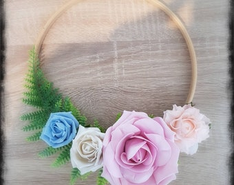 Floral Hoop flower girl bridesmaid