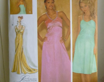 Simplicity 4215 Evening gown or prom dress - Laura Lynn collection sewing pattern new uncut size 6-8-10-12-14