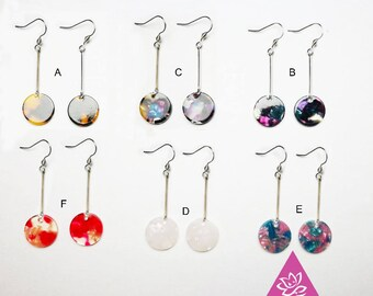 1 pair  small triangle earrings CHIC acrylic 6 color a choice hypoallergenic for sensitive skin waterproof