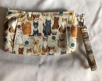 Charmed Playful Cats Wristlet