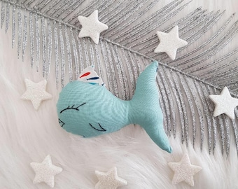 Small fish for Blue Cat and fish fabric!