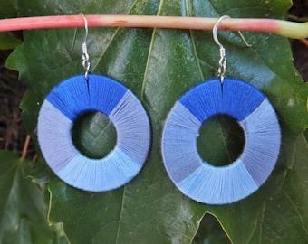 Blue Ombre Hoop Earrings