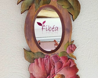 Mirror with the camellias