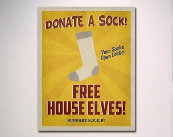Harry Potter Poster / SPEW Poster / SPEW Free House Elves Propaganda Poster / Harry Potter Print / Harry Potter Art