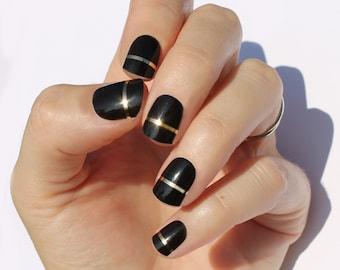 Black Lola Nail Wraps