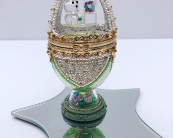 Crystal Bear & Gumball Jewelry Box - Goose Egg