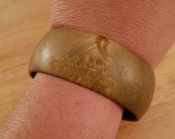 Vintage Brown Resin Bangle Bracelet