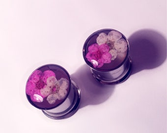 10mm Stacked pink and cream flowers!