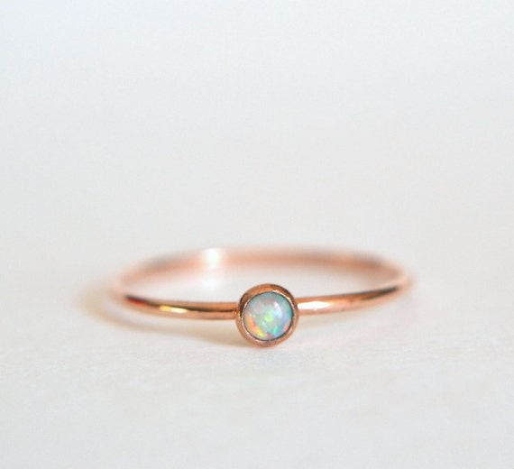 14k Solid ROSE Gold Opal Ring 14k Rose Gold Opal Ring Opal