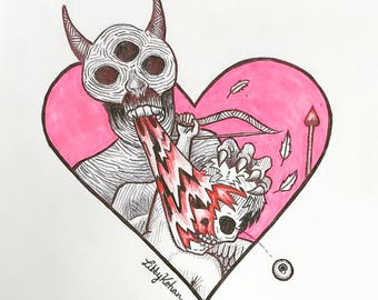 Dead Cupid (Original Drawing)