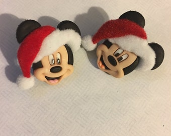 Mickey Mouse Santa Christmas Earrings AD41