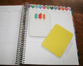 Coil Clip In Laminated Dashboard Bookmark / Erin Condren, Limelife, Plum Paper Planner