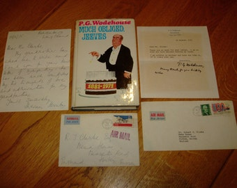 P G WODEHOUSE-Much Obliged Jeeves-1st-+ SIGNED Letters-hb-g-1971-Mega Rare-What An INKVESTMENT