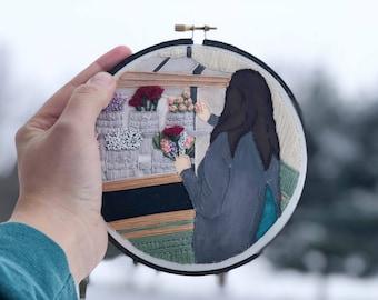 Custom Embroidered Portrait