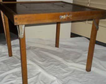 Child's wooden folding  table 1940 1950