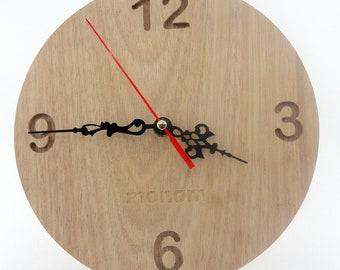 Wall Clock , Eucalyptus wood