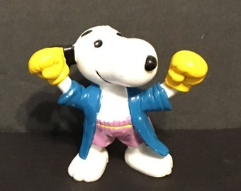 Snoopy PVC Figure, Boxing Snoopy, Boxing, Peanuts, United Feature Syndicate, 1966