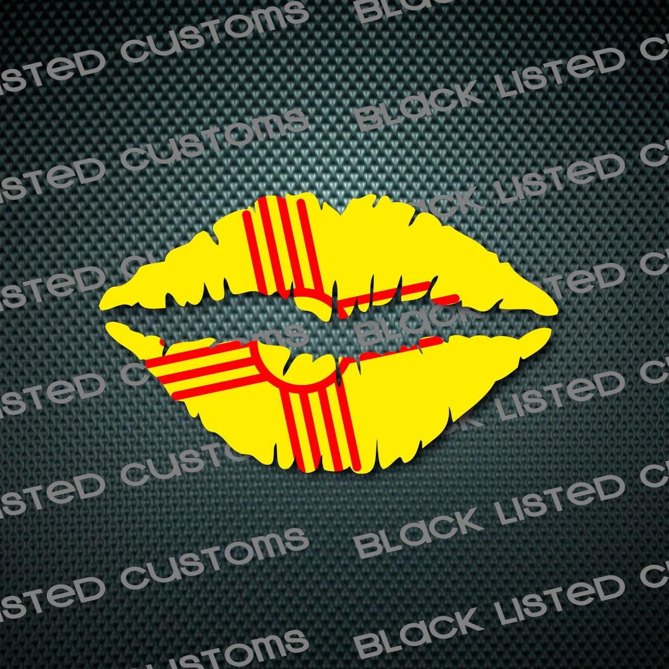 New mexico zia state flag lips custom vinyl snowboard kiss zoom buycottarizona