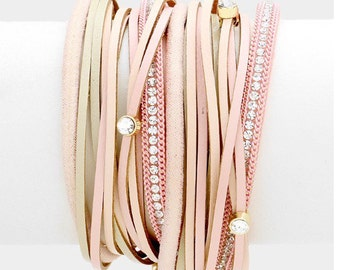 Wrap Around Pink Bracelet