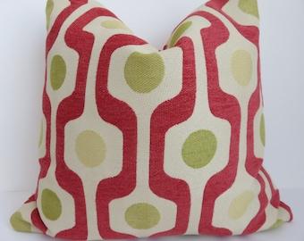 20x20 Pillow cover- Green Red Pillow - Green Yellow Pillow - Geometric pillow - Pillow Cover - Lime Green Pillow- Yellow Pillow - Red Pillow