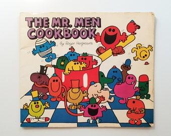 Roger Hargreaves - The Mr. Men Cookbook - cookery vintage childrens kids paperback book - 1977