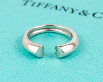 Authentic TIFFANY & CO Sterling Silver Paloma Picasso Tenderness Heart Ring 5.5